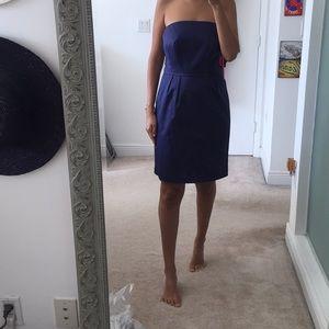 Blue strapless dress size 8!